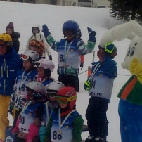 My son, my pride and joy, won first place in his ski school