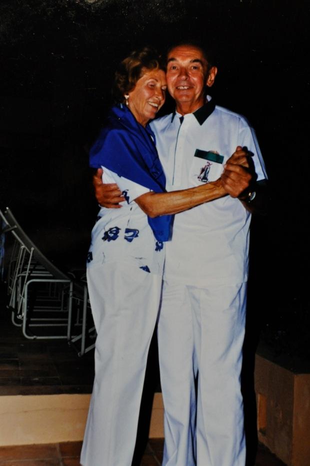 Grandma and Grandpa, dancing in Ibiza